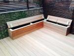 Hardwood Decking Storage Bench